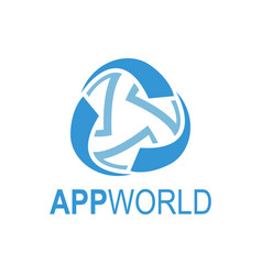 abstract rotate app world media globe logo vector image