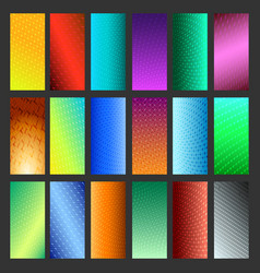abstract vibrant background set vector image