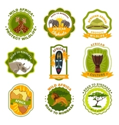 Africa Emblems Set vector