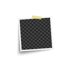 Album blank or empty photo square frame placed on vector