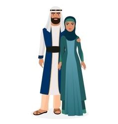 Arab family arabian man and woman couple vector