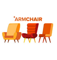 armchair home furniture isolated flat vector image