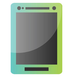 blue and green tablet icon on a white background vector image