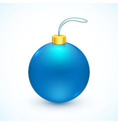 Blue isolated Christmas ball vector