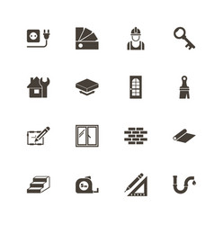 Building house - flat icons vector
