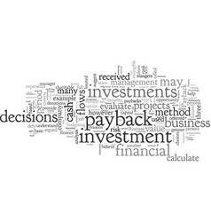 Business investment decisions vector