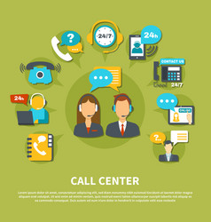 call center composition vector image