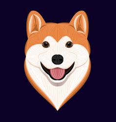 Cartoon akita dog vector