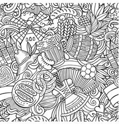 Cartoon doodles germany seamless pattern vector