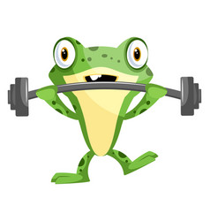 Cheerful for weightlifting with some weights on vector