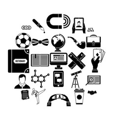 classman icons set simple style vector image