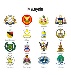 Coat arms state malaysia all vector