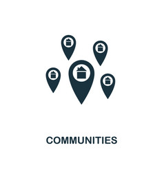 communities icon creative element design from vector image