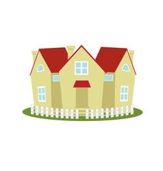 cottage village vector image