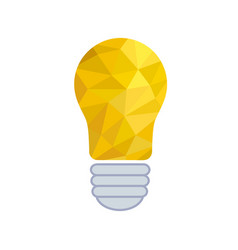 crumpled paper lightbulb - creative sketch draw vector image
