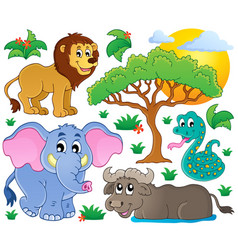 Cute african animals collection 2 vector