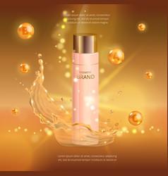 Digital collagen oil essence mockup on vector