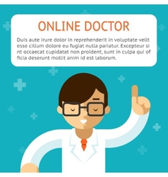 Doctor online vector