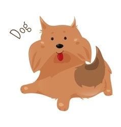 Dog isolated Sticker for kids Child fun icon vector image