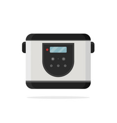 flat icon of electric multi-cooker vector image