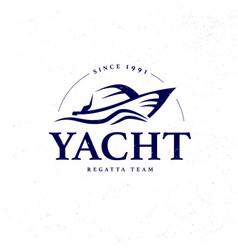 Flat yacht club regatta logo design sailing boat vector