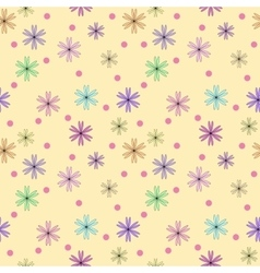 Flower color seamless pattern vector image