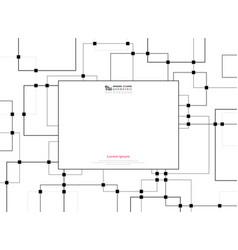 futuristic future technology of black square vector image