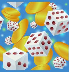 gambling seamless pattern vector image