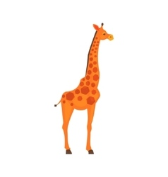 Giraffe Realistic Simplified Drawing vector image