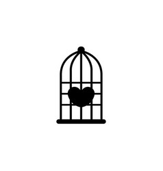 Hearth in the bird cage vector