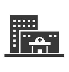 hospital black icon medical building office vector image