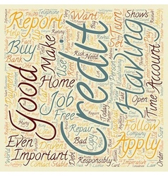 How Good Is Your Credit Why Does It Matter text vector