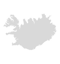 iceland map icon country flat vector image