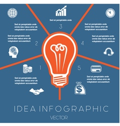 Idea Business Concept Light bulb infographic5 vector