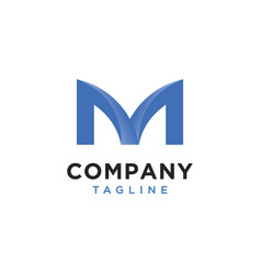 initials m logo is simple and modern vector image