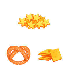 Isolated object food and crunchy sign vector