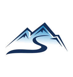 letter s mountain ski vector image