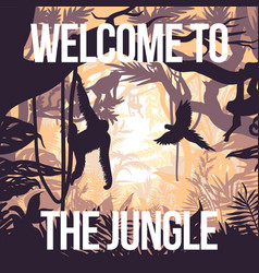 Light jungle party poster vector