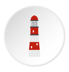 Lighthouse icon circle vector