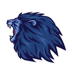 lion roaring logo mascot icon template vector image