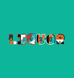 Liquor concept word art vector
