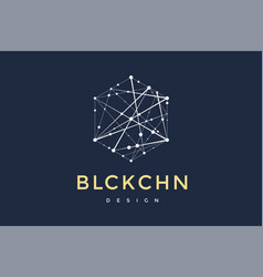 logo for blockchain technology vector image
