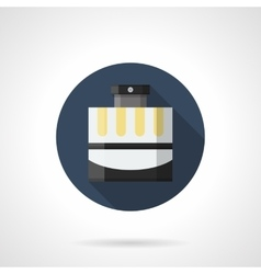 Mens fragrance flat color round icon vector