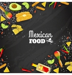 Mexican Food Seamless Background vector