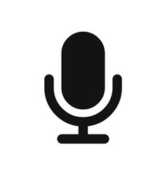 microphone icon isolated on white background vector image