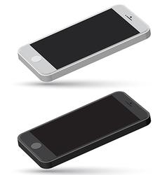 Mobile set mockup vector