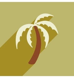 Modern flat icon with long shadow Indian palm vector