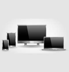 monitor laptop and tablet vector image