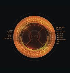 Orange infographics as head-up display vector