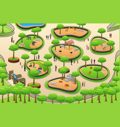 people visiting a zoo vector image